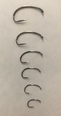 Fly Tying Hooks Barbless 50 Count Box 321 sizes #10 -18 Black Nickel