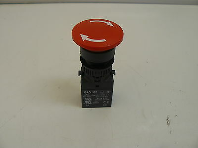 Apem 03-0023 Red Pushbutton 121684 With En60947-5-5 Contact 2.5A 380Vac