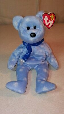 1999 Ty Holiday Teddy Original Beanie Baby With Tags In Excellent Condition