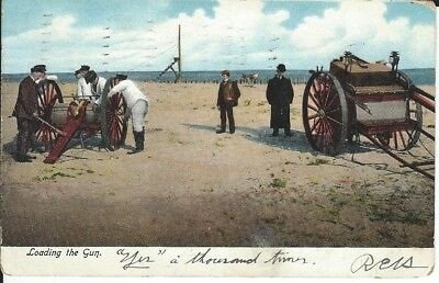 Postcard,  Loading the Gun.