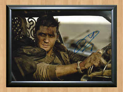 Tom Hardy Mad Max: Fury Road Signed Autographed A4 Photo Poster Memorabilia dvd
