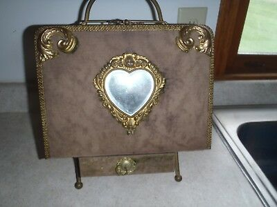 Rare Vintage Victorian Era Photograph Album With Stand And Drawer,antique