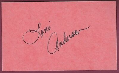 """Loni Anderson, Actress, Signed 3"""" x 5"""" Card, COA, UACC RD 036"""