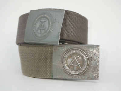 Two Genuine East German Army Military NVA DDR Adjustable Combat Belts W/ Buckle