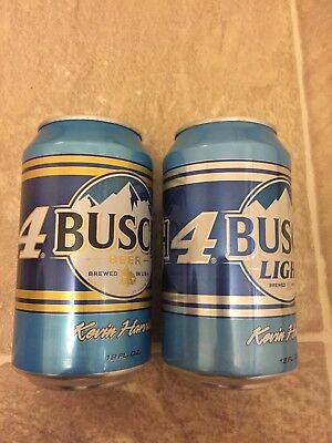 BUSCH AND BUSCH Light beer Cans Keven Harvick 12oz