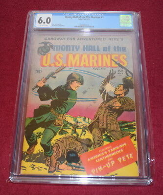 Monty Hall of the U.S.MARINES #1,  8/51, Golden Age Comic, CGC 6.0