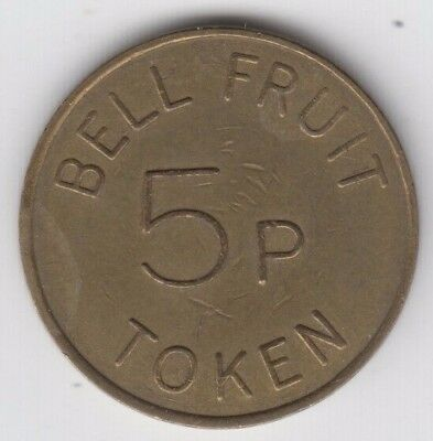 Bell Fruit Machine Token 5p Brass