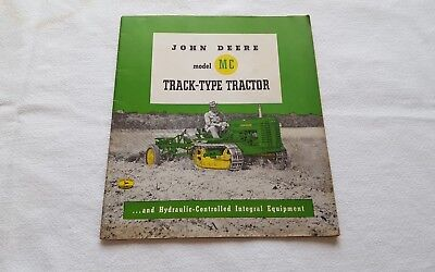 Vintage 1950 John Deere Model MC Track-Type Tractor catalogue