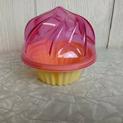 Pink & Golden Cupcake Holder Keeper Taker Container Individual Shaped Muffin