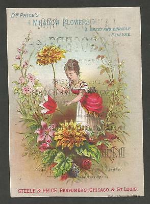 Victorian Trade Card Lawton & Bro. Grocers - Dr. Price Perfumers - Late 1800's