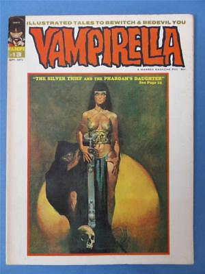 VAMPIRELLA 13 Warren 1971 FRAZETTA Back Cover Anti Smoking Advert!