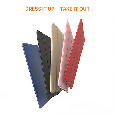Slim Magnetic Leather Smart Cover Soft Silicone Case Protect For ipad6/air2  HOT