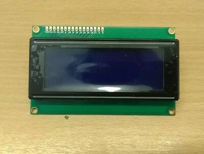 20x4 Character LCD Module Display, HD44780, High Contrast, Wide View, 5V, Blue