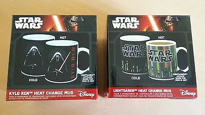 Star Wars collectable  colour change mugs boxed  - gift set of 2 -bnib