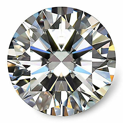 Natural Moissanite 8mm Round Excellent Cut Beautiful Quality 1.71 Carat  Gems
