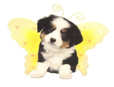 """BERNESE MOUNTAIN DOG Puppy Decal-Wings By Keith Kimberlin one 5""""x5"""" Sticker"""