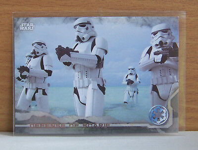 Star Wars Rogue One series 1 Defense of Scarif #26 Gray Grey parallel card /100