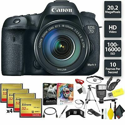 Canon EOS 7D Mark II DSLR Camera + 18-135mm f/3.5-5.6 STM Lens + 128GB Memory...