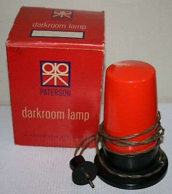 Vintage Paterson Photographic Darkroom Safety Lamp / Light - Working