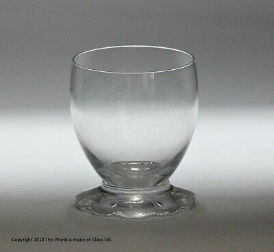 Small early Victorian glass salt