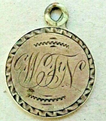 Vintage Hand Engraved 1858 Seated Dime **LOVE TOKEN**  For Necklace!!