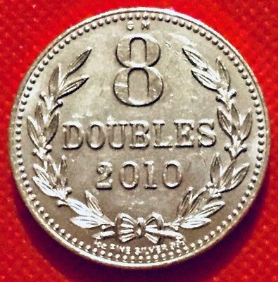 Solid Silver .999 Bullion Coin 2010 Guernsey 🌟 8 🌟doubles Pounds Value Asset🌟