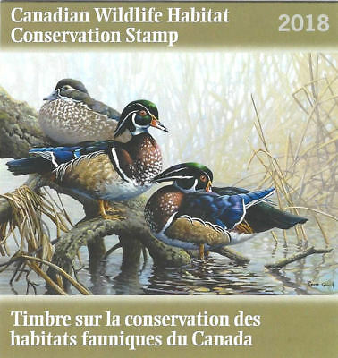 2018 Canada  Wildlife Habitat Conservation FWH34 (D-34s)   Mint NH signed