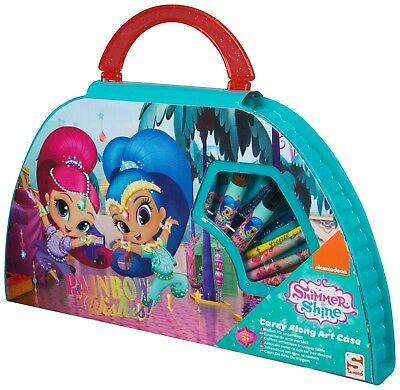 Shimmer & Shine Colouring Activity Travel Carry Along Art Case Painting Toy Set