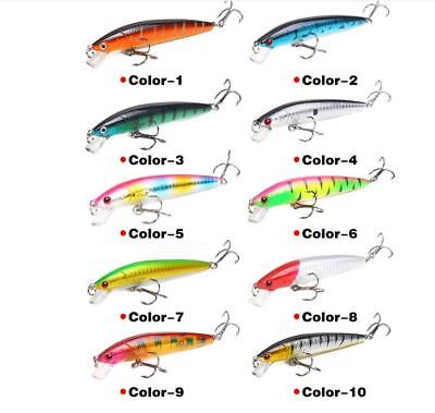 Fishing Lures Minnow Crank Bait Hooks Bass Tackle Sinking Crankbaits Swimbait