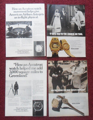 Lot of 20 DIFF Accutron Bulova Watch Watches Print Ads ~ Greenland Pilots ++