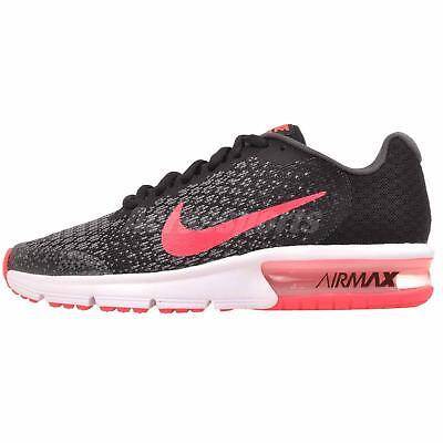 ba0cb16fd0c Nike Air Max Sequent 2 GS Running Kids Youth Womens Shoes Black Pink  869994-005