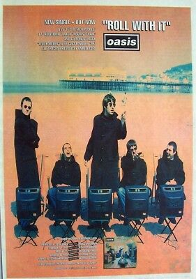 OASIS 1995 original POSTER ADVERT ROLL WITH IT definitely maybe BRITPOP