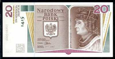 POLAND  20 ZLOTYCH 2015   P 188  W/FOLDER COMMEMORATIVE  Uncirculated