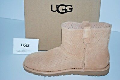 0d44d1af791 NIB UGG AUSTRALIA Classic Unlined Mini Perforated Boots 1016852 Womens 7 8 9