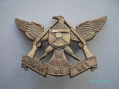 South Africa Sadf  Regiment De Wet Cap/beret Badge