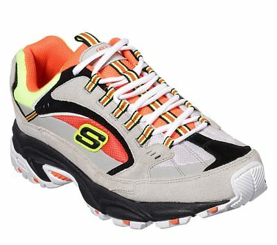 0839c6ce69ec SKECHERS STAMINA-CUTBACK MENS Gray Orange 51286 GYOR Casual Shoes ...