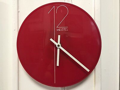 VINTAGE DAVID DAVIR red quartz wall kitchen clock mid ...