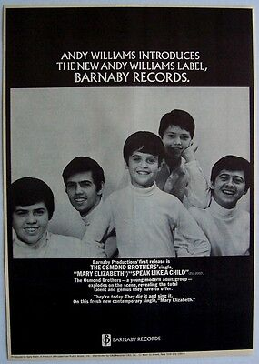 THE OSMONDS osmond brothers 1968 POSTER ADVERT MARY ELIZABETH donny photo ad