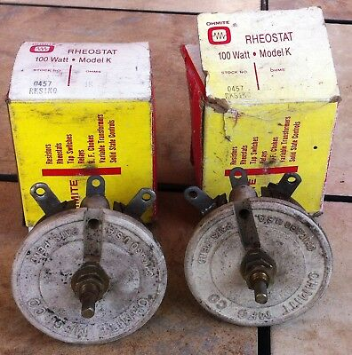 Ohmite 100 Watt 1000 Ohms All Ceramic Model K Rheostat #0457 1K ohms