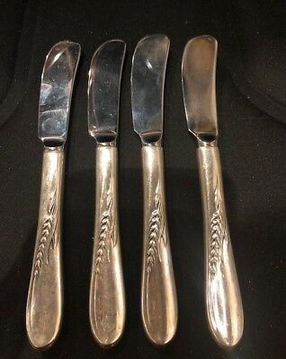 "Vintage Reed & Barton Sterling silver wheat patten 6"" butter knife (4)"