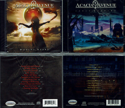 2 CDs, Acacia Avenue - Worlds Apart (2018) + Early Warning (2016) Fate, Newman