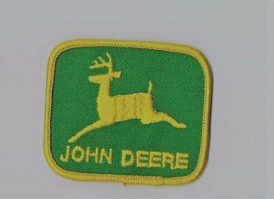One john deere patch yellow and green