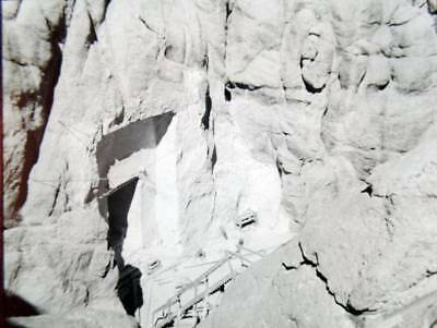 1920 Mount Rushmore Memorial Gutzon Borglum Begins Sculpture Photo Lantern Slide