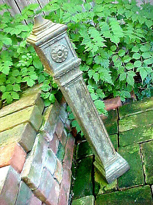 Antique Detroit Fort Shelby Hotel Cast Iron Newel Post Architectural Lamp Base