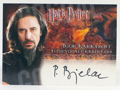 Harry Potter Goblet of Fire Predrag Bjelac as Igor Karkaroff Autograph Card