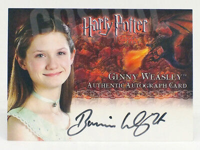 Harry Potter and Goblet of Fire Bonnie Wright as Ginny Weasley Autograph Card