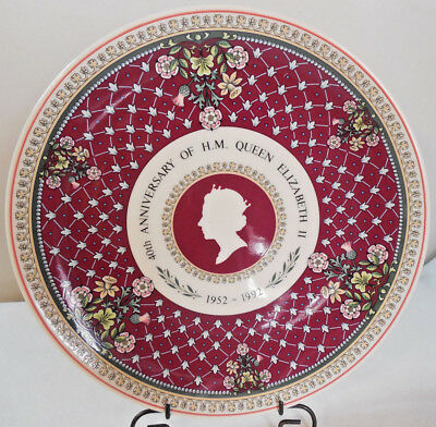 40th Anniversary Of H.M. Queen Elizabeth II, 1952-92, Wedgewood Plate,