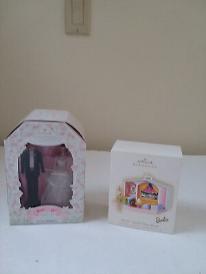 Hallmark Barbie Ornaments, Barbie and Ken and Family Deluxe House, NIB