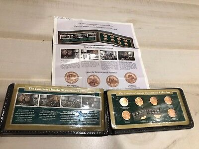 Complete Set 2009 P&D Lincoln Cents Bicentennial Collection in Nice Holder