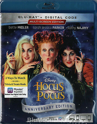 Hocus Pocus BLU-RAY + Digital Code Anniversary Multi-Screen Edition Brand NEW